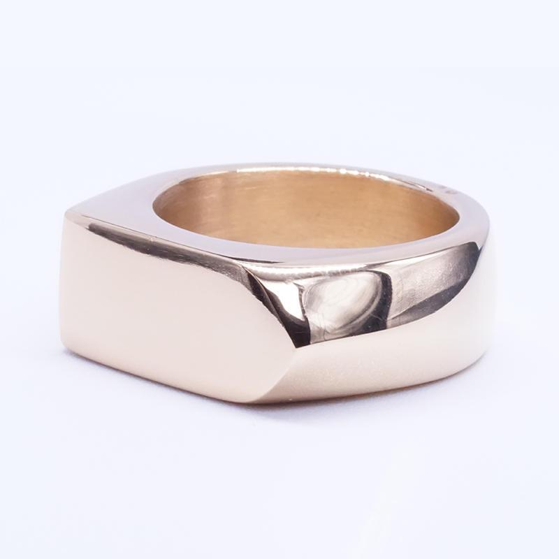 product-BEYALY-Simple Fashion Plain Stainless Steel Band Ring Men Stylish Arrow Ring-img