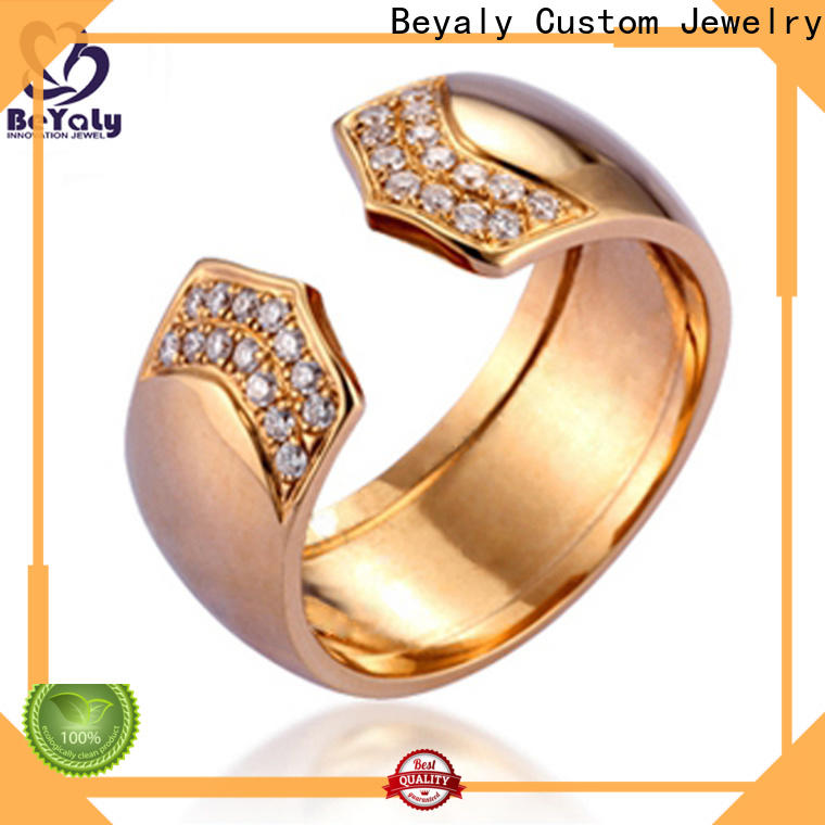BEYALY High-quality rose gold anniversary ring company for decoration