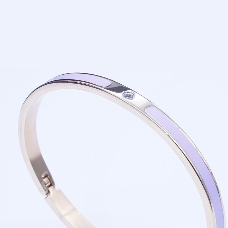 product-Fashion Luxury Stainless Steel 18K Gold Plating Cubic Zircon Inlay Women Bangle-BEYALY-img-1