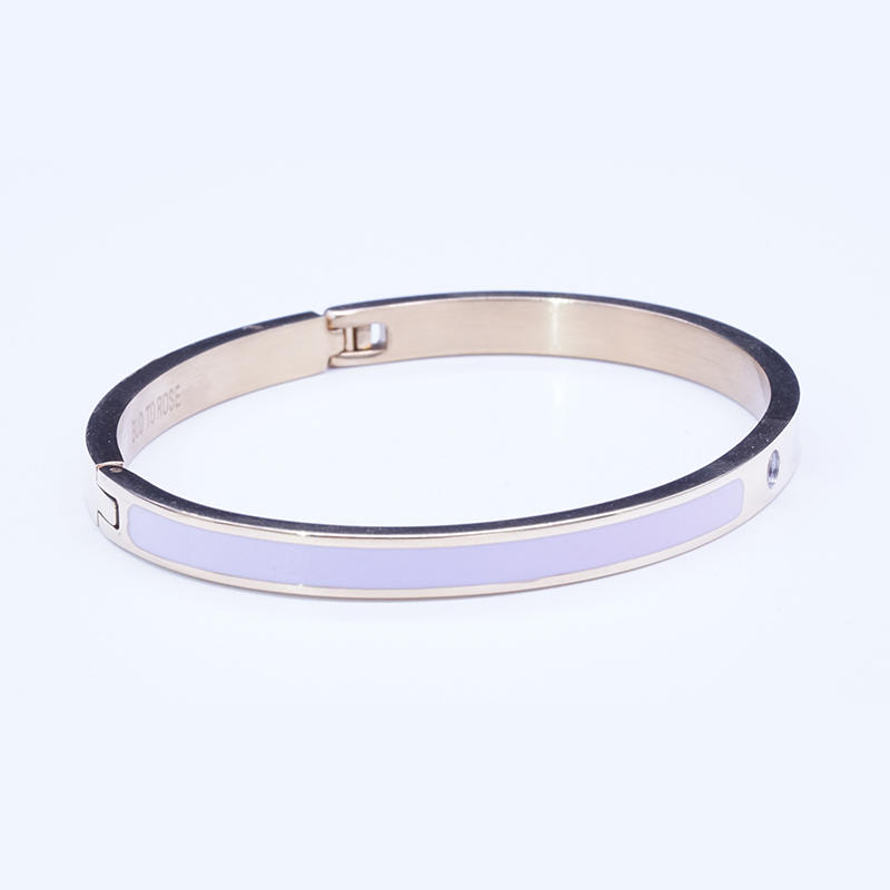 product-BEYALY-Fashion Luxury Stainless Steel 18K Gold Plating Cubic Zircon Inlay Women Bangle-img