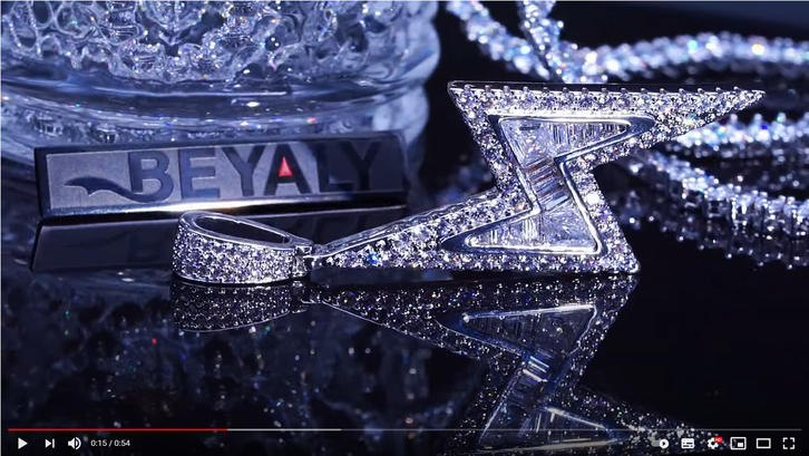 Beyaly Jewelry | hip hop style Thunder pendant with tennis chain necklace