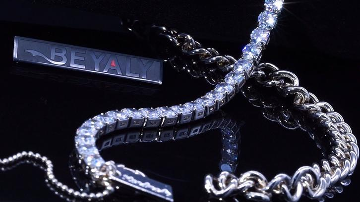 Beyaly Jewelry | Half chain necklace design with tennis chain