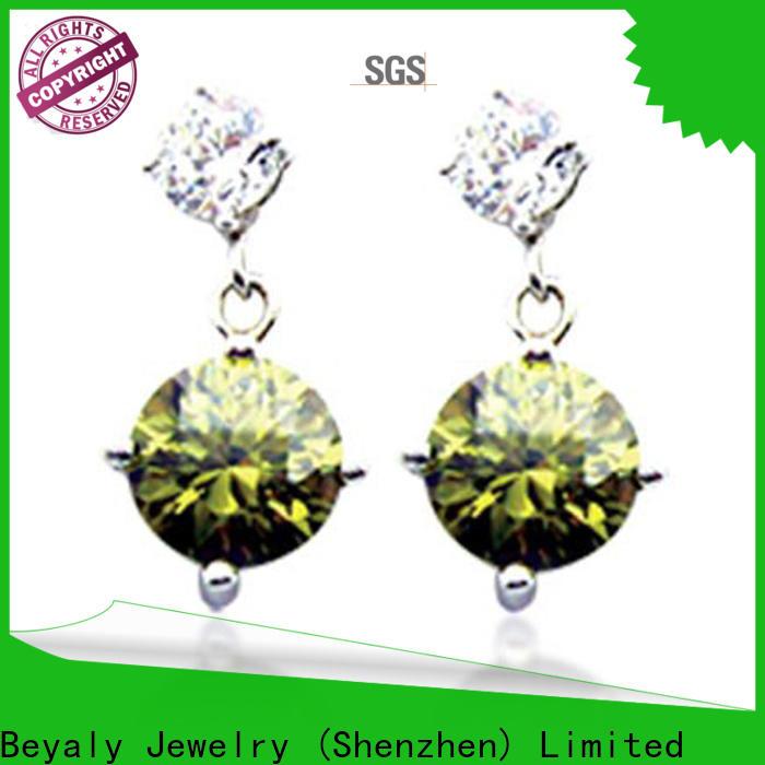 New hoop earrings 925 sterling silver manufacturers for wedding