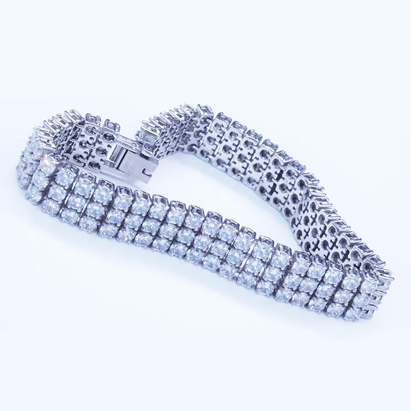 product-Full pave zircon link chain bracelet for women-BEYALY-img-1