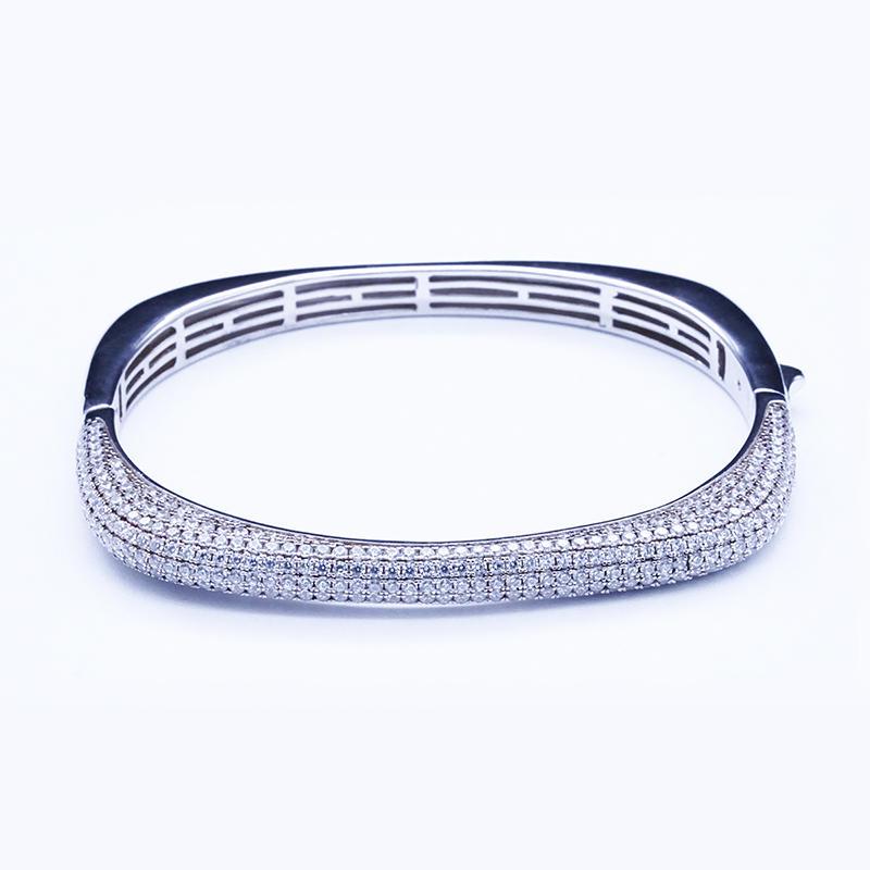 Wholesale Fashion Jewelry Online Rose Gold Plated Jewelry Fashion Bangle S925 Bangle Custom Jewelry Bracelet