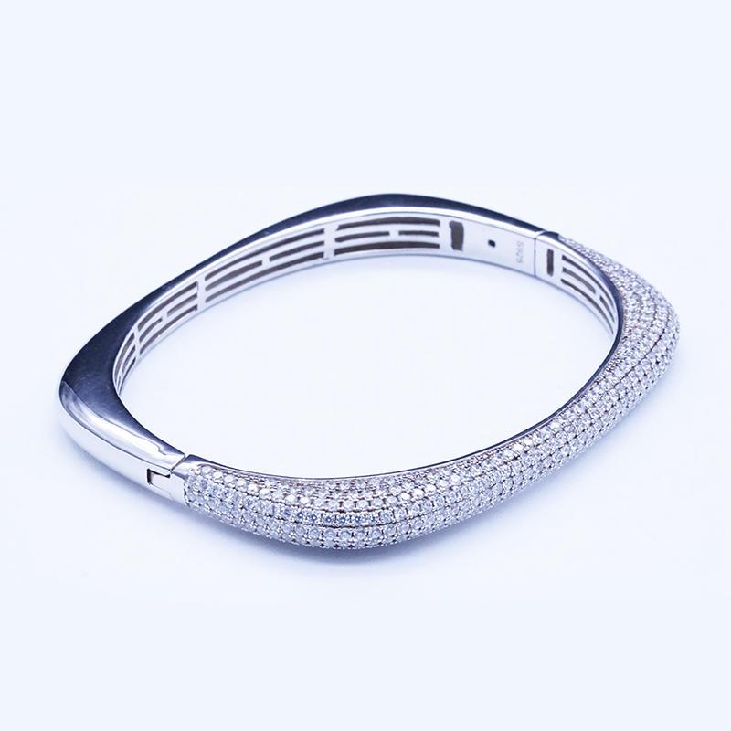 product-BEYALY-Wholesale Fashion Jewelry Online Rose Gold Plated Jewelry Fashion Bangle S925 Bangle
