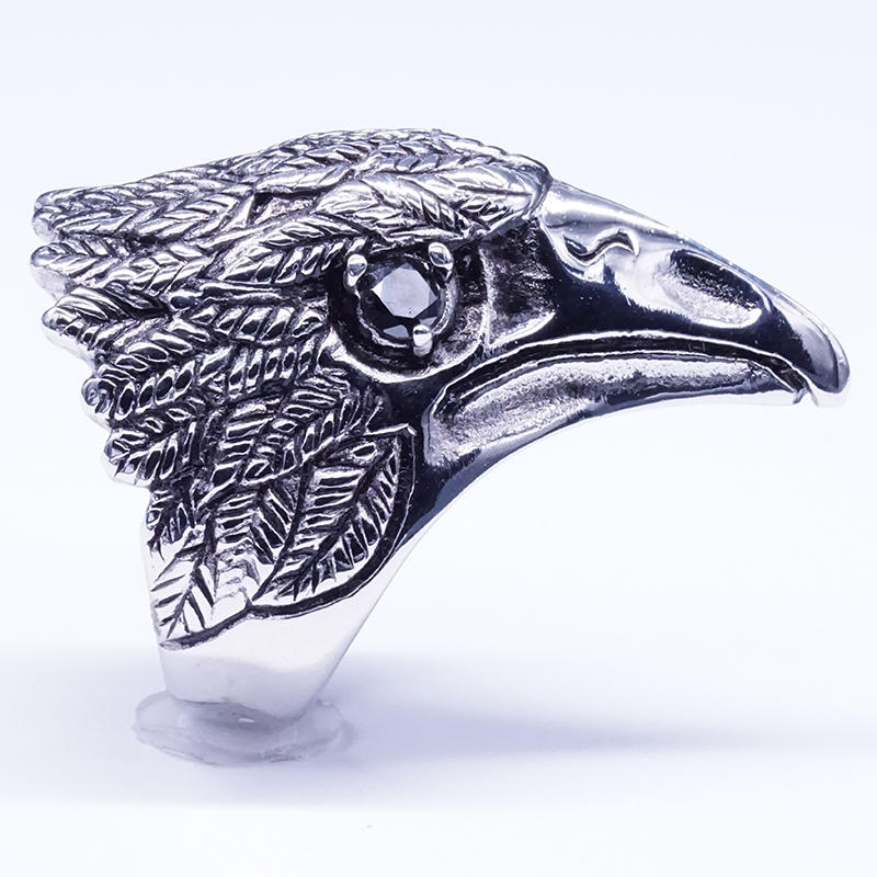 product-Distressed design eagle ring vintage style ring jewelry-BEYALY-img-1