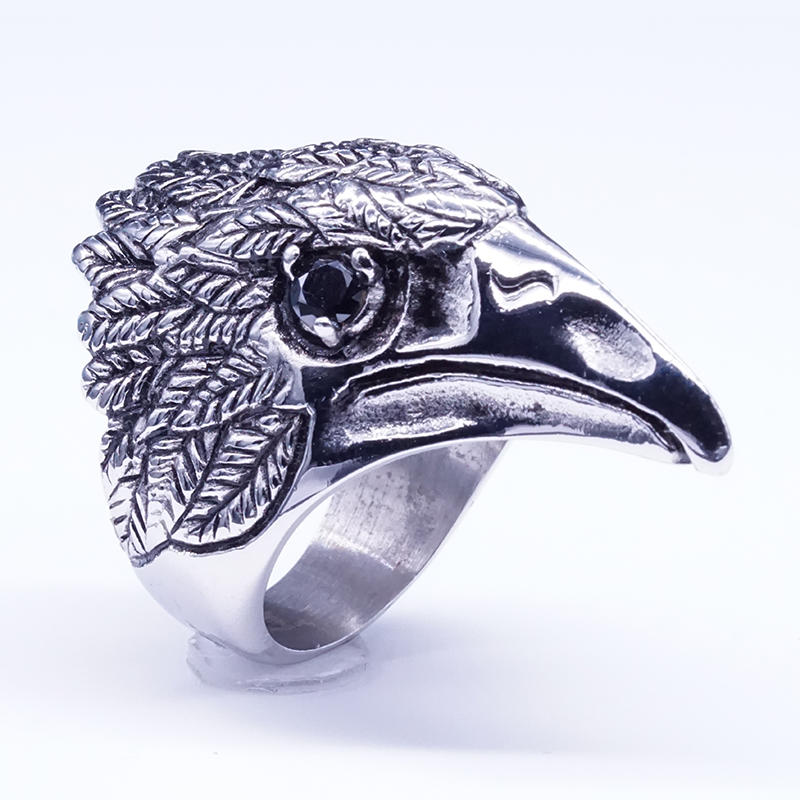 Distressed design eagle ring vintage style ring jewelry