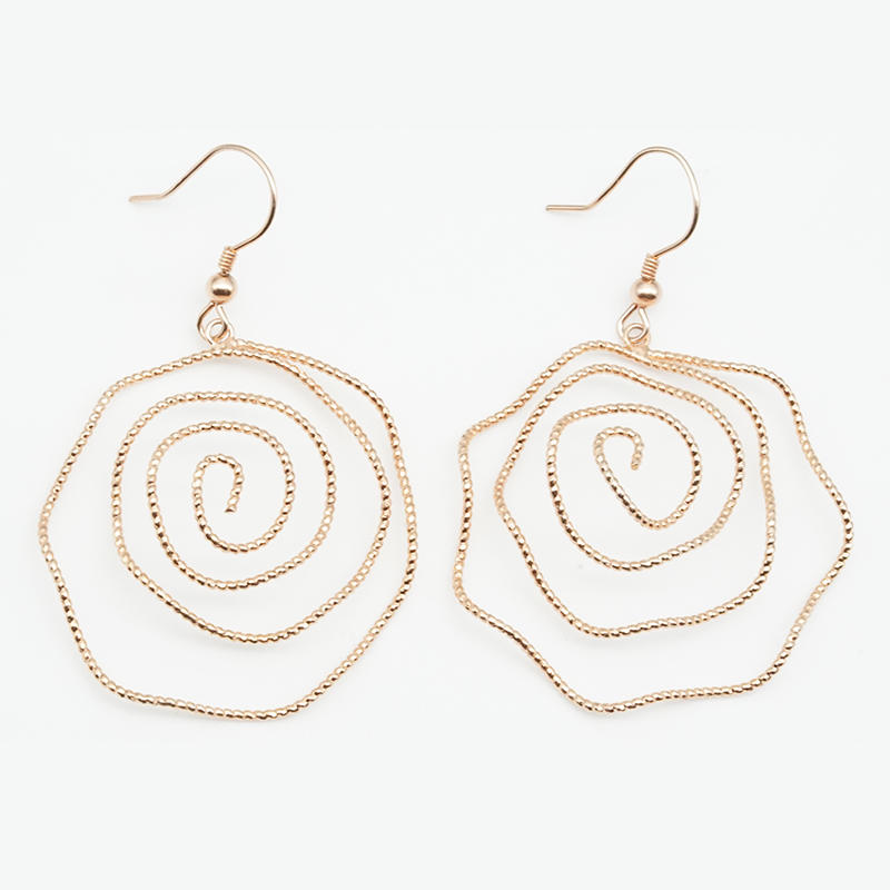 product-BEYALY-Wire Bending Flower Shape Design Women Earring-img