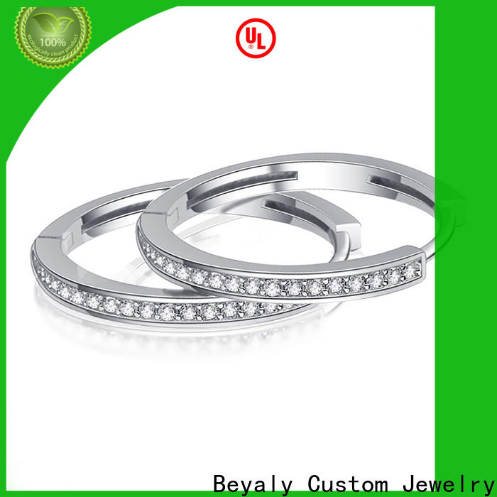BEYALY 92.5 silver earrings online shipped to business for wedding