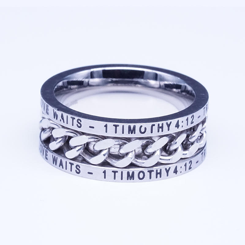 product-BEYALY-Beyaly Jewelry   Cool design stainless steel curb chain ring with statement engrave-i