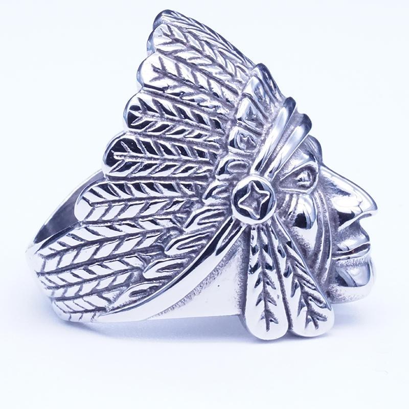 product-BEYALY-Portrait ring symbolizing the Indian spirit,mens ring jewelry-img