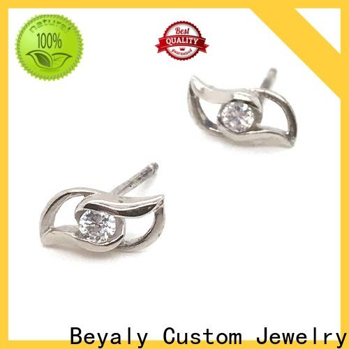 BEYALY Wholesale sterling silver cz stud earrings manufacturers for women