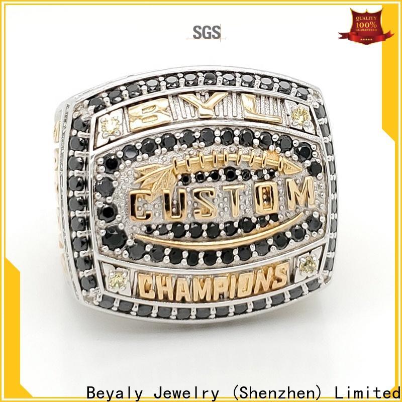 BEYALY New black wedding ring set bulk buy for wedding