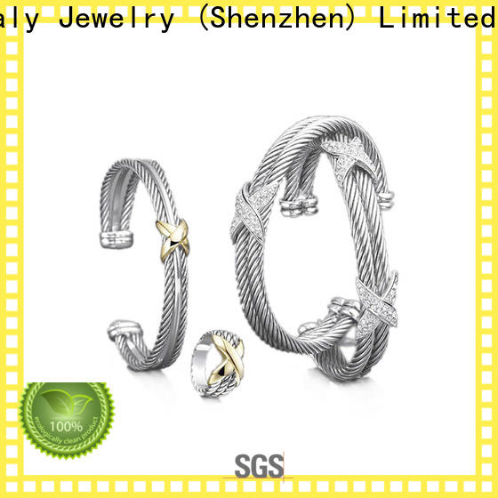 High-quality silver cubic zirconia bangle factory for women