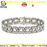 BEYALY silver bangle with cubic zirconia manufacturers for business gift