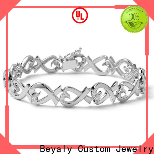 BEYALY silver and cubic zirconia bracelets company for men