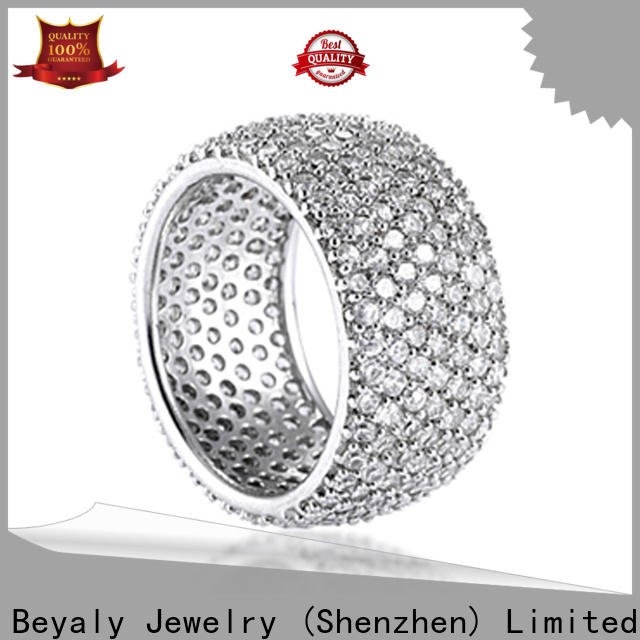 BEYALY Top silver cz eternity ring factory for men