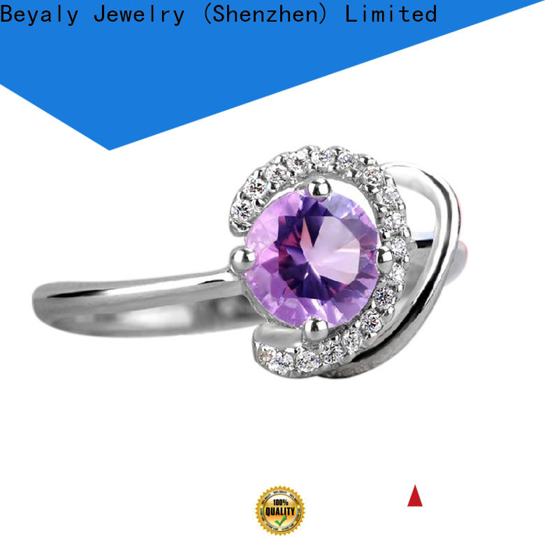 BEYALY h 925 cz silver ring company for party