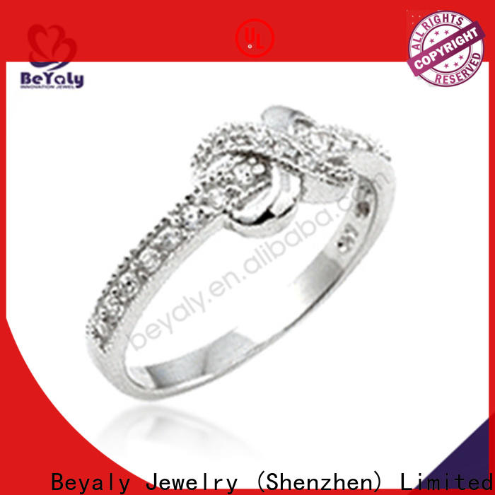BEYALY silver cz engagement rings Supply for business gift