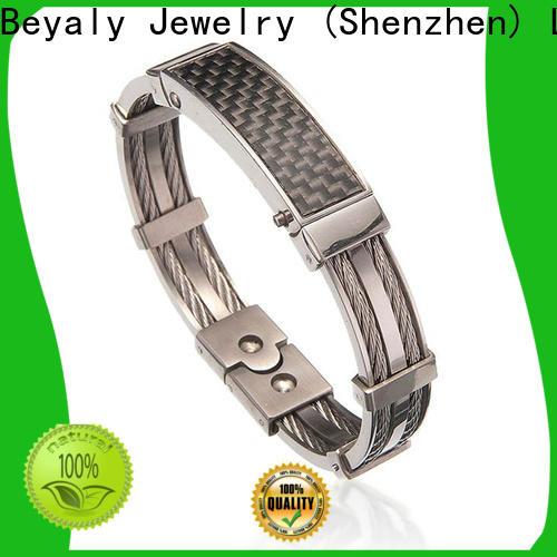Top mens titanium magnetic bracelet company for wedding