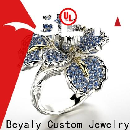 BEYALY Top raw emerald ring bulk buy for business gift
