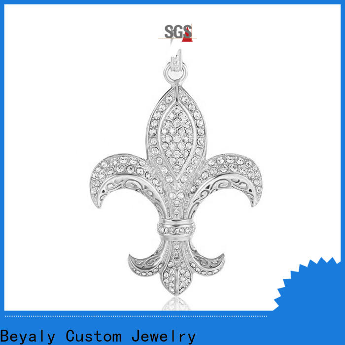 BEYALY sterling silver jesus pendant manufacturers for decoration