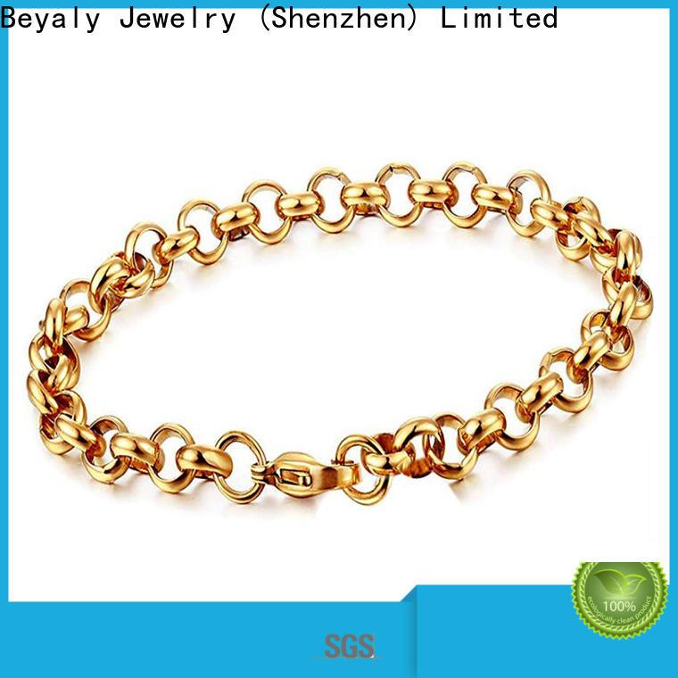 Custom mens sterling silver bangle bracelet shipped to business for men