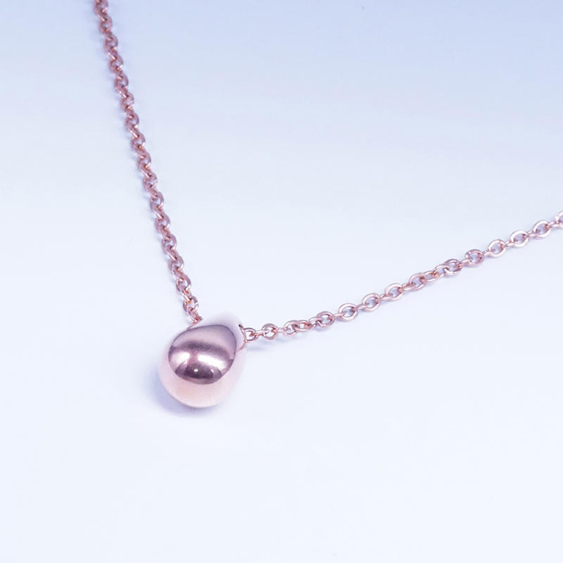 product-BEYALY-Custom design pendant stainless steel Pea Pendant Water Drop Necklace Men Women-img