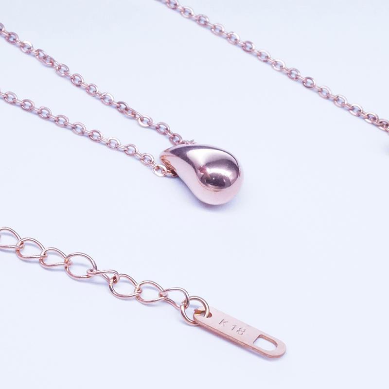 product-Custom design pendant stainless steel Pea Pendant Water Drop Necklace Men Women-BEYALY-img-1