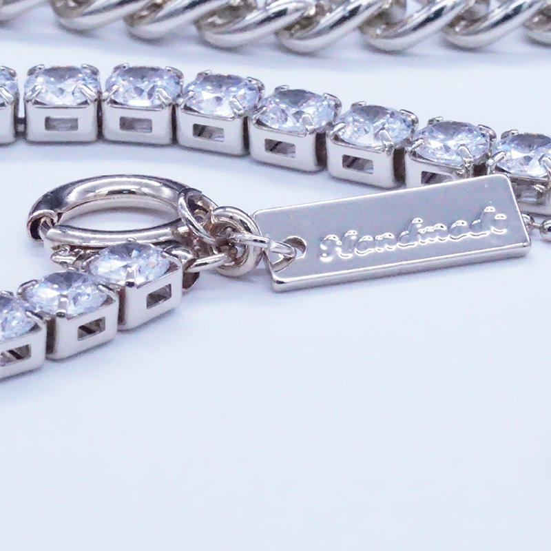 product-BEYALY-Half chain necklace design with tennis chain-img