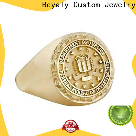 BEYALY roman numeral engraved ring Supply for business gift