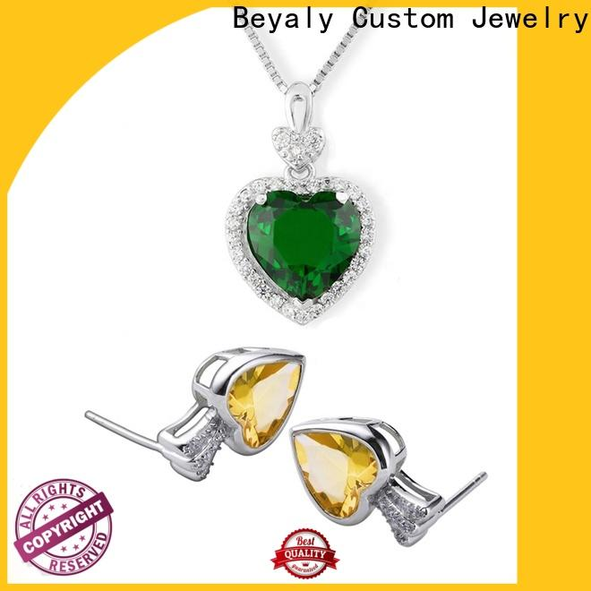 BEYALY Best emerald jewelry set factory for wedding