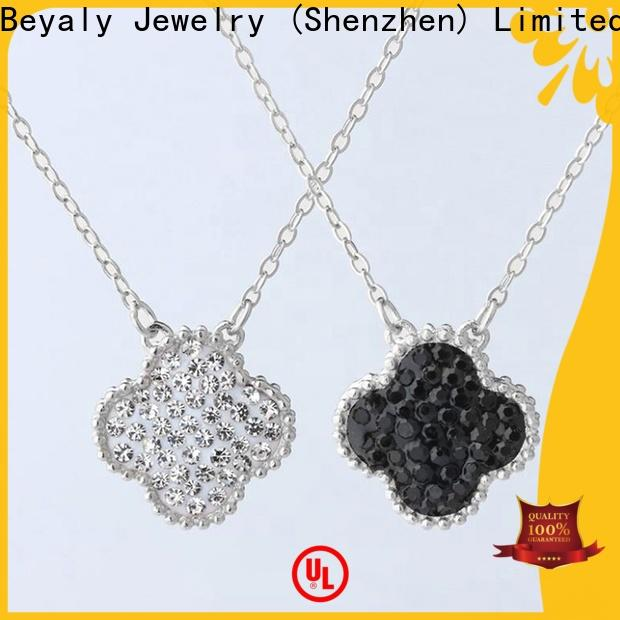 BEYALY silver flower pendant shipped to business for party