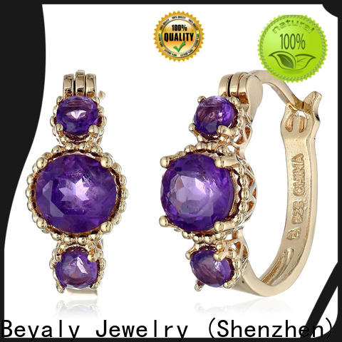 BEYALY Latest 4mm cubic zirconia stud earrings Supply for party