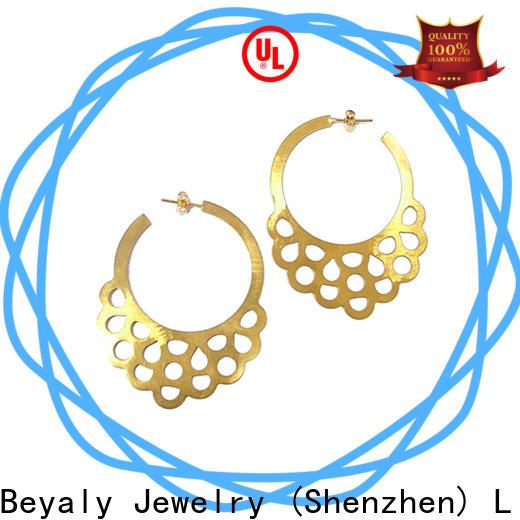 BEYALY cubic zirconia diamond hoop earrings bulk buy for wedding