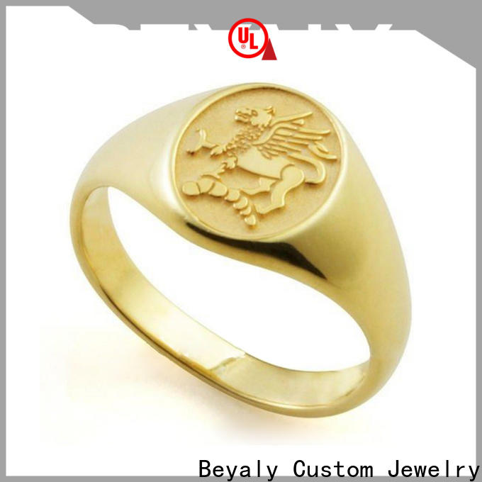BEYALY Wholesale design your own stainless steel ring factory for women