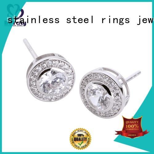small sterling zircon small diamond hoop earrings BEYALY