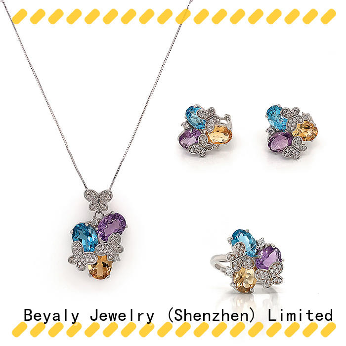 BEYALY Top earrings necklace and bracelet set manufacturers for business gift