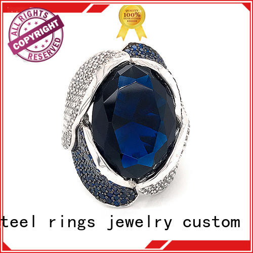BEYALY High-quality sterling silver cubic zirconia rings Supply for men