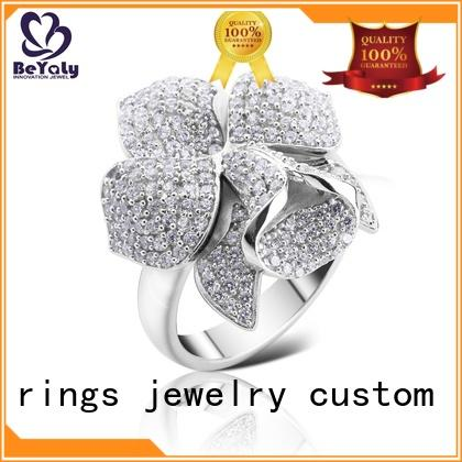 BEYALY flower sterling silver ring Suppliers for men
