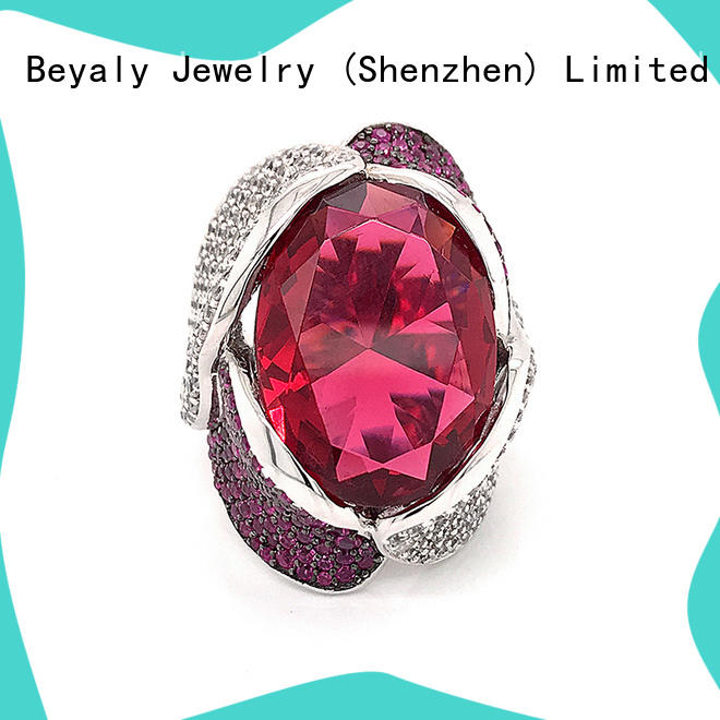 BEYALY steel platinum ring factory for women