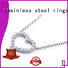 BEYALY silver jewelry dog tag necklace company for ladies