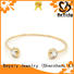 BEYALY leaf bangle bracelet design for business gift