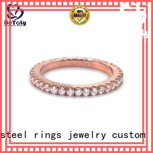 BEYALY platinum gold inital ring company for wedding
