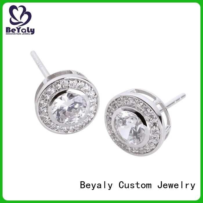 BEYALY popular rose gold hoop earrings sale Suppliers for exhibition