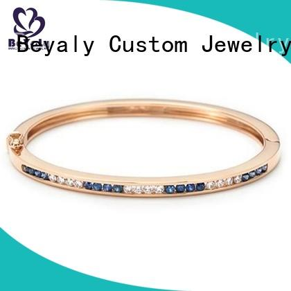 Custom gold bangle with circles two Suppliers for advertising promotion