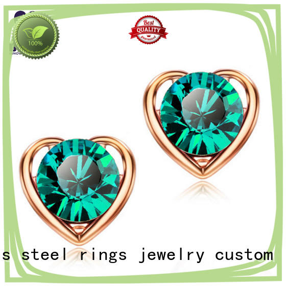 BEYALY stylish circle stud earrings design for women