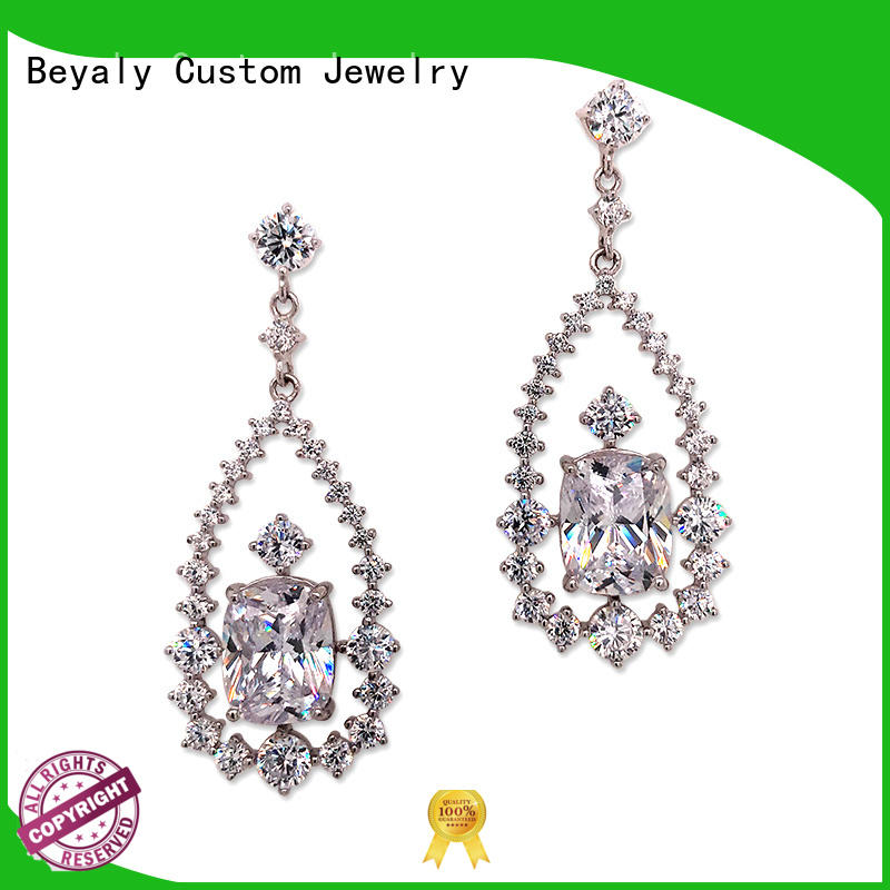 BEYALY white rose gold hoop earrings sale factory for business gift