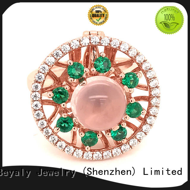 BEYALY exotic gold inital ring Suppliers for daily life